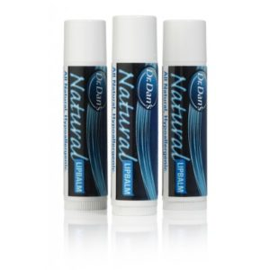 Three of Dr. Dan's Natural Lip Balm