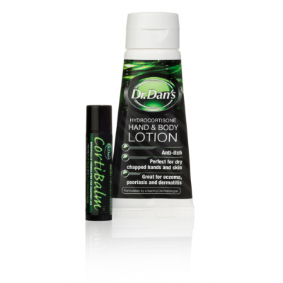 CortiBalm stick and Hand and Body Lotion tube