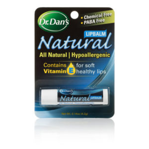 Dr. Dan's Natural Hypoallergenic Lip Balm in package